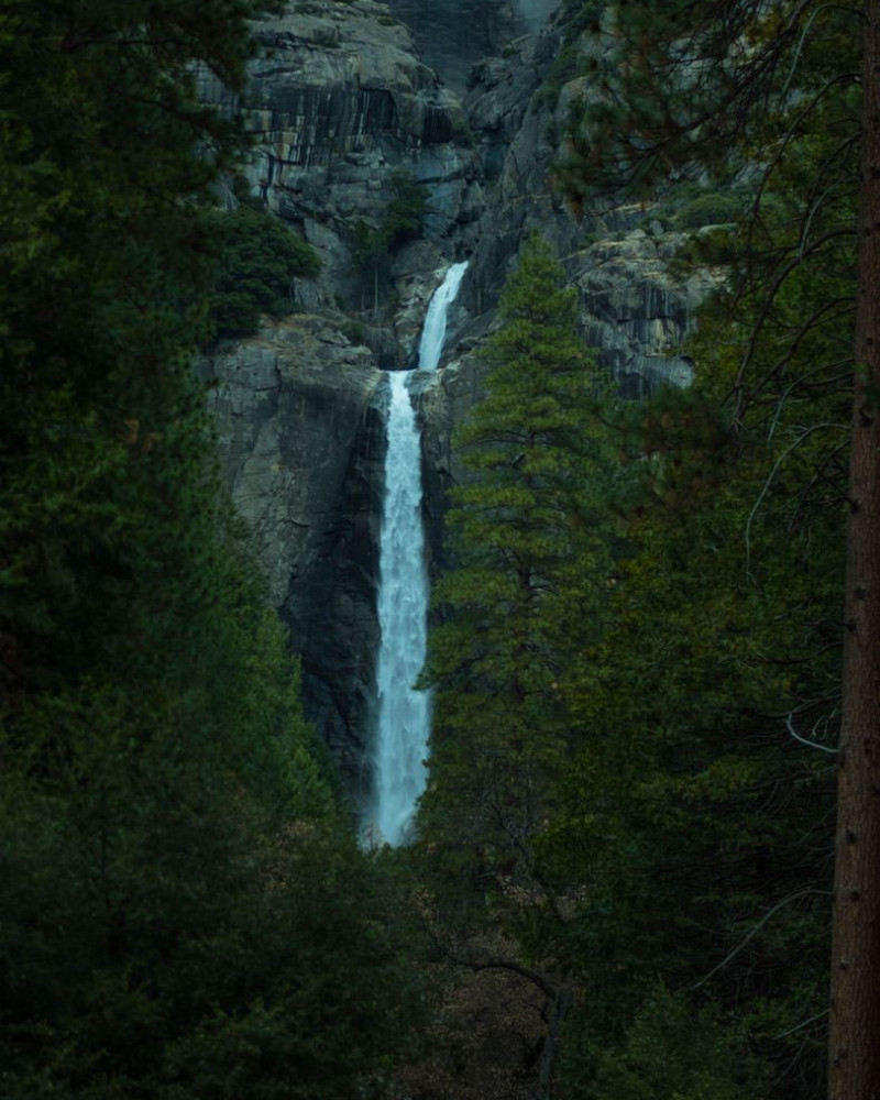 A waterfall in the forest